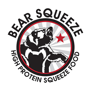 Bear Squeeze High Protein Food Logo Design