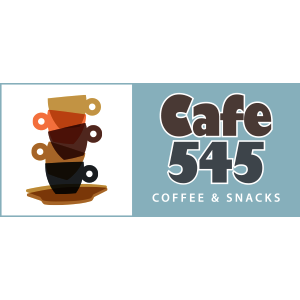 Cafe 545 Logo Design