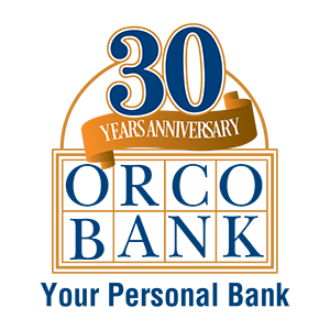 Orco Bank 30 Year Anniversary Logo Design