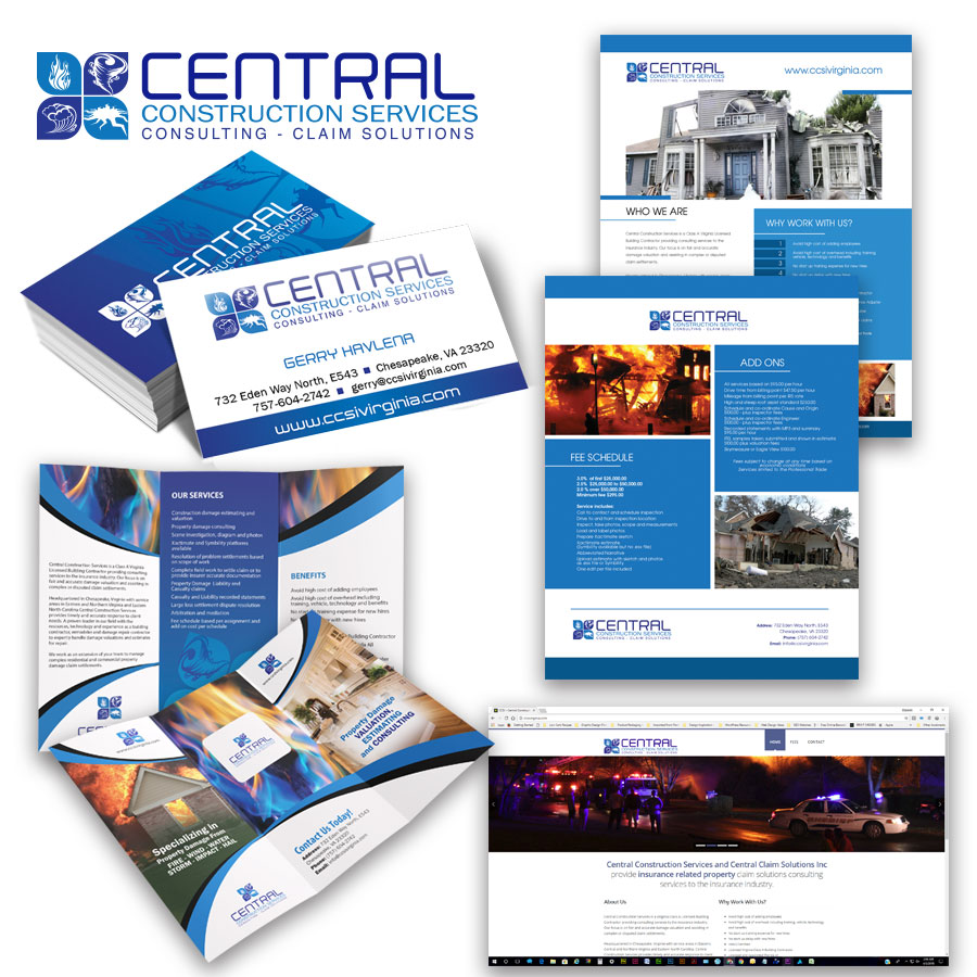 From Our Portfolio, Central Construction Services Brand Development and Logo Design