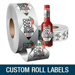 custom roll labels design and printing