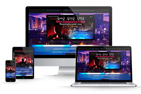 HTML and Wordpress Combined Website Development for What Happened In Vegas The Movie